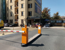 The completion of a hotel car park - Prague