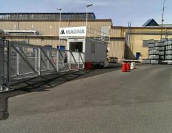 Realizace závorového systému - Liberec, Magna Exteriors