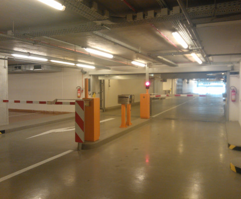 The completion of the entry to the underground garage - Siemensova Street, Prague